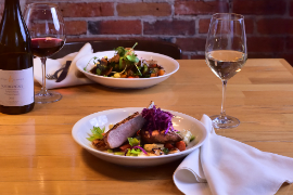 Dinner for two with wine served at Mona Lisa's