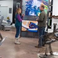 Art viewing at Artisan Forge