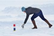Playing winter Kubb