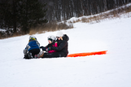 Sledding at Pinehurst Park