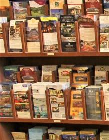 Brochures at Asheville Visitor Center