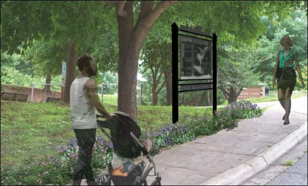 Artist's rendering of African American Heritage Trail