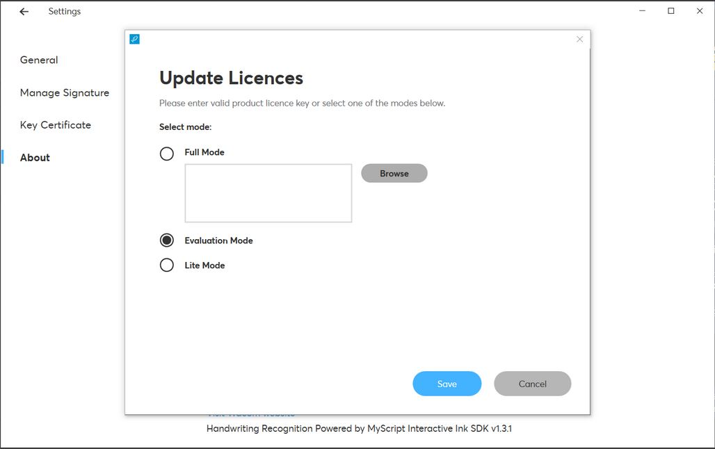 How to change sign pro PDF mode
